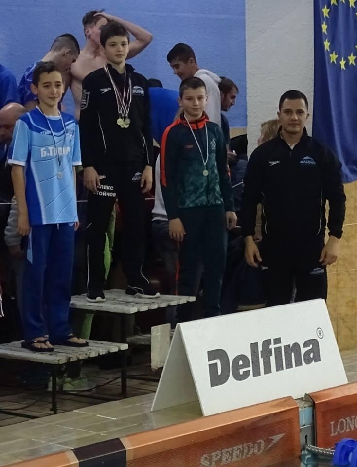 """Отлично представяне на NSK""""Olimp""""???????? на Международния турнир по плуване """"Гладиатор""""."""