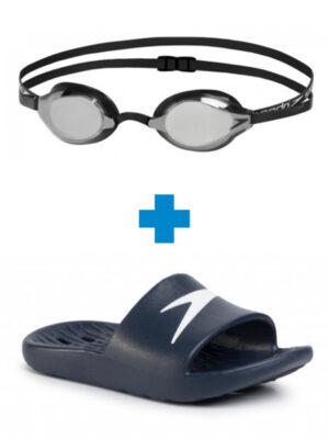 Комплект Плувни очила + Джапанки за деца Unisex Плувни очила + Джапанки за деца Unisex