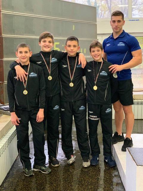 2 Шампионски титли за Олимп на Държавния шампионат по плуване ????♂️ за деца (11-12г), който се проведе този уикенд в гр. Пловдив