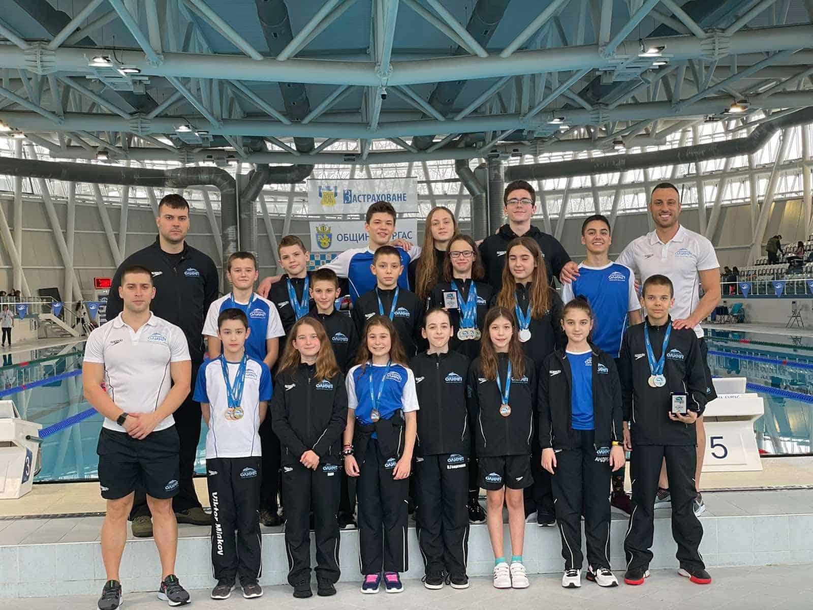 21 медала и 2 приза за най- добро постижение за НСК Олимп на Sharks Swimming Cup Burgas
